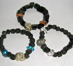 Black Tourmaline and Pyrite Bracelets