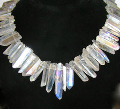 Iridescent Quartz Points Necklace