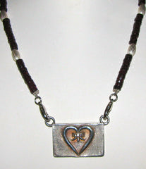 Heart Medallion with Garnet Necklace