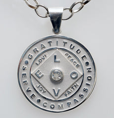 Love + Gratitude Medallion with White Topaz