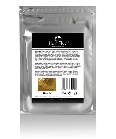 Hair Plus Blonde Hair Fibre Refill Bag 25g, 50g,100g, 150g,300g,600g