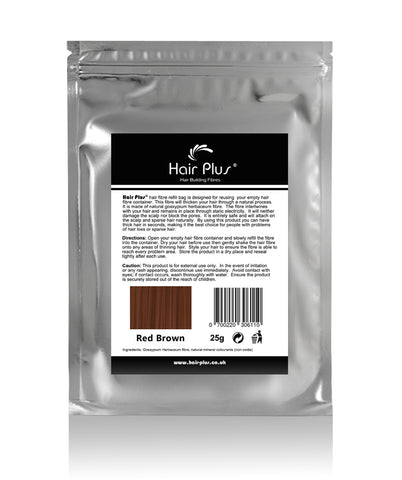 Red Brown Hair Fibre Refill Bag