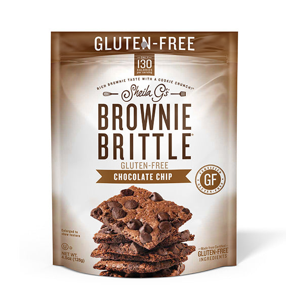 Gluten-Free Chocolate Chip Brownie Brittle