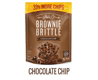 One bag of Sheila G's Chocolate Chip Brownie Brittle