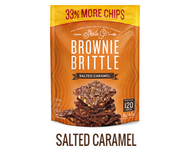 One bag of Sheila G's Salted Caramel Brownie Brittle