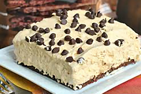 No Bake Brownie Brittle™ Pumpkin Cheesecake