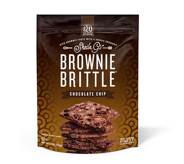 Five ounce bag of Chocolate Chip Brownie Brittle