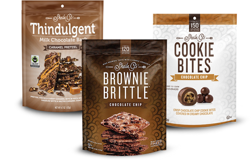 Brownie Brittle Products - Brownie Brittle, Thindulgent and Cookie Bites