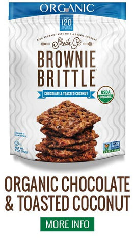 Organic Brownie Brittle Chocolate and Toasted Coconut - More Info