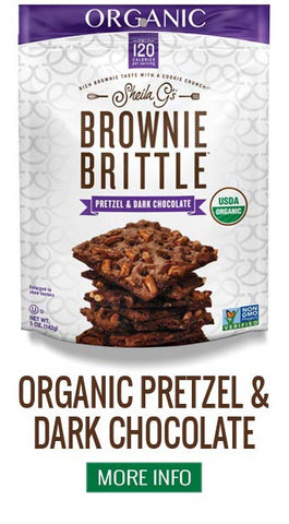 Organic Brownie Brittle Pretzel and Dark Chocolate - More Info