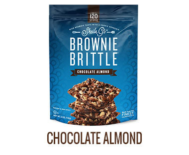 One bag of Sheila G's Chocolate Almond Brownie Brittle