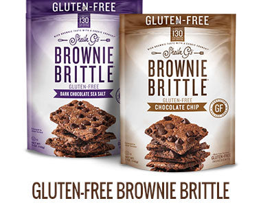 Two bags of Sheila G's Gluten-Free Brownie Brittle