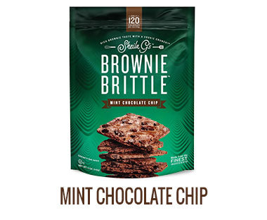 One bag of Sheila G's Mint Chocolate Chip Brownie Brittle