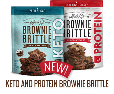 Keto and Protein Brownie Brittle