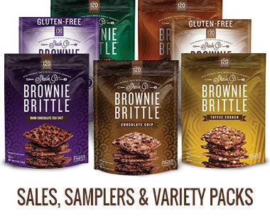 Seven bags of various Brownie Brittle flavors and types