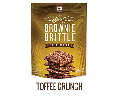 One bag of Sheila G's Toffee Crunch Brownie Brittle