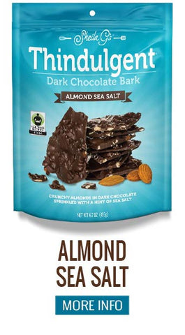 Thindulgent Dark Chocolate Almond Sea Salt Bark - More Info