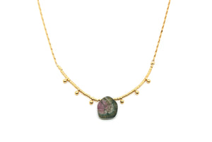 Collier INMA - Tourmaline watermelon