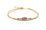 Bracelet DAMAN - Tourmaline rose