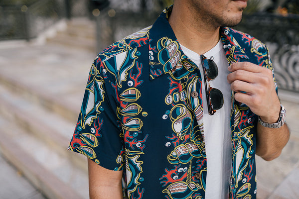 "Men's ""Seashells"" Hawaiian Shirt"