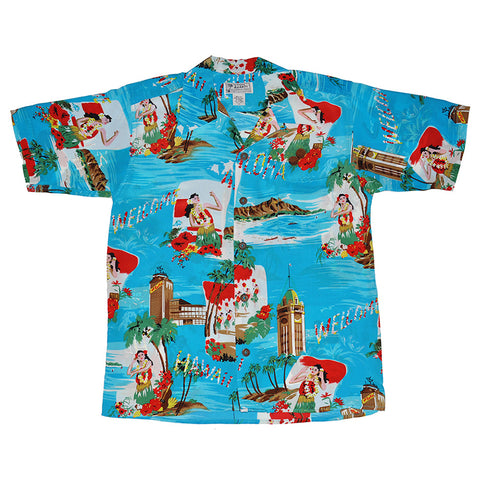 Men's Aloha Greeting Hawaiian Shirt