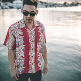 Men's Orchid Panel Hawaiian Shirt