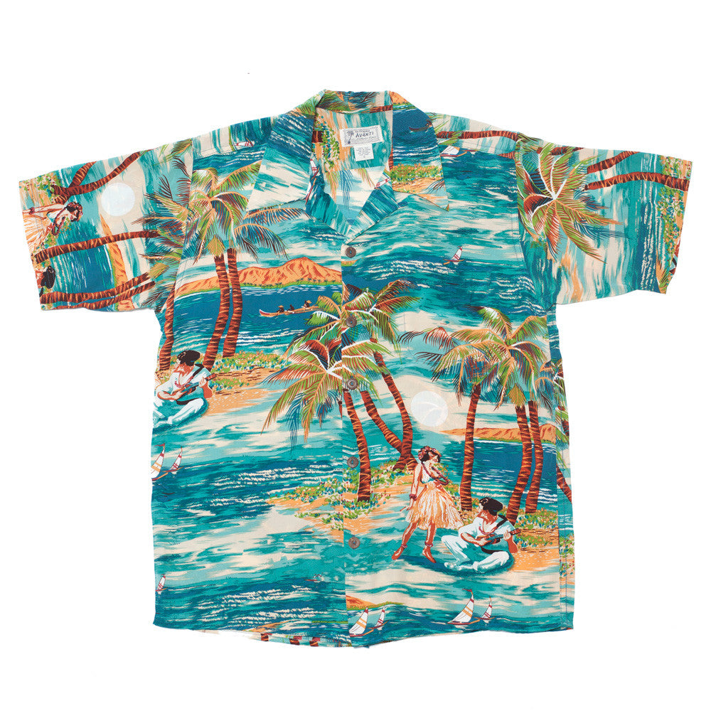 Men's Hula Hawaiian Shirt - Teal