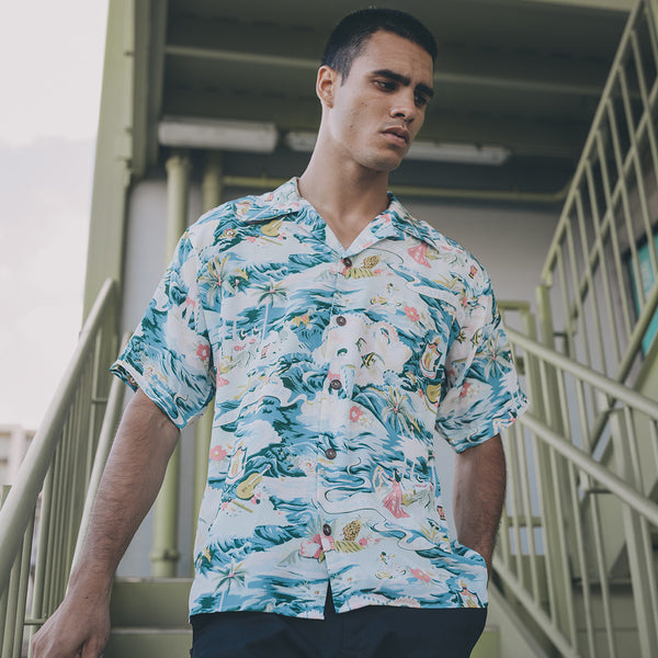 Men's Land of Aloha Hawaiian Shirt