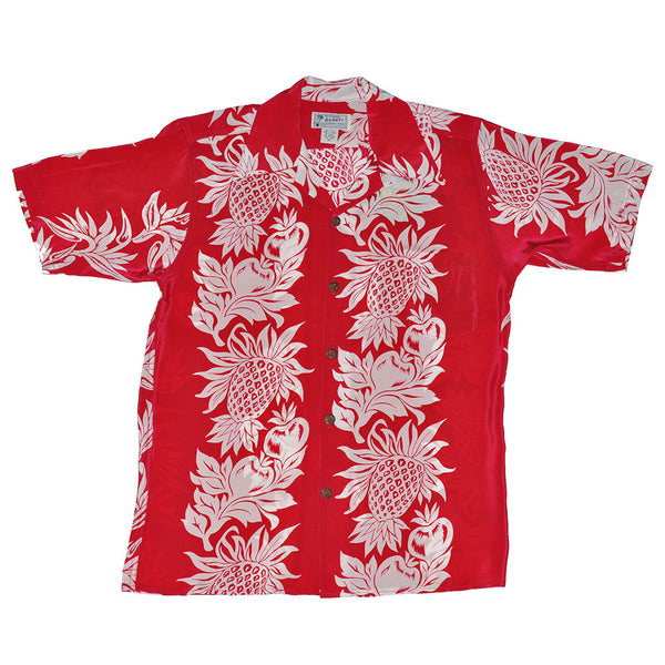 Men's Pineapple Panel Hawaiian Shirt