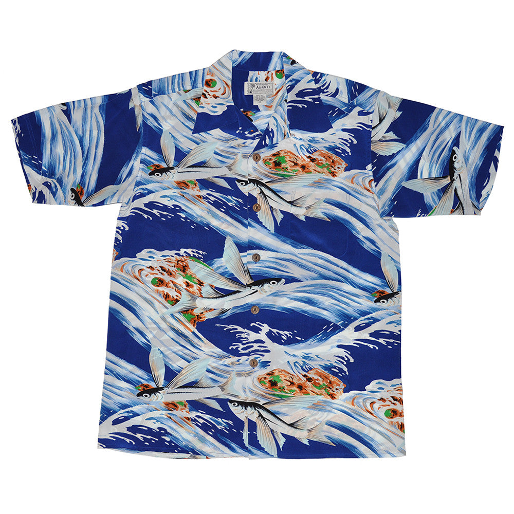 Men's Flying Fish Hawaiian Shirt