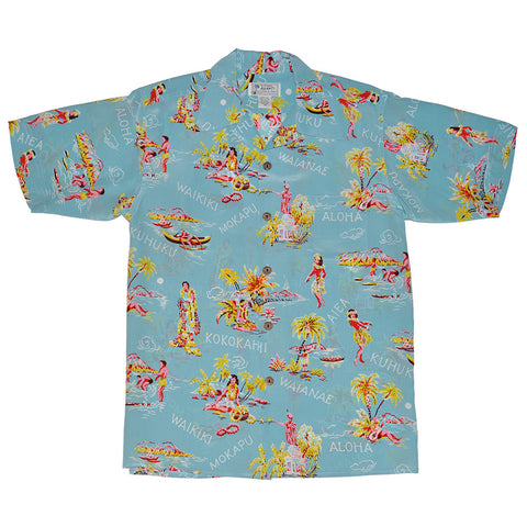 Men's Lei Greetings Hawaiian Shirt
