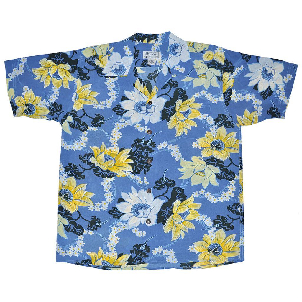 Men's Keanu Hawaiian Shirt - Blue