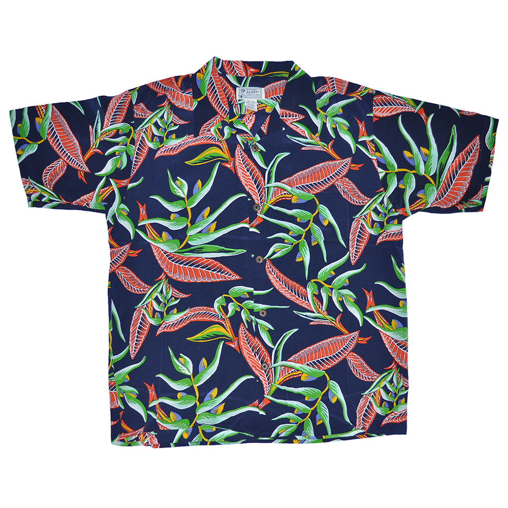 Men's Paradise Floral Hawaiian Shirt - Navy