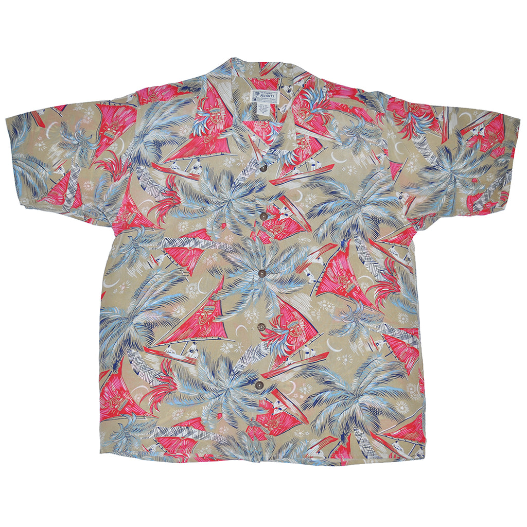 Men's Wayfinders Hawaiian Shirt - Tan