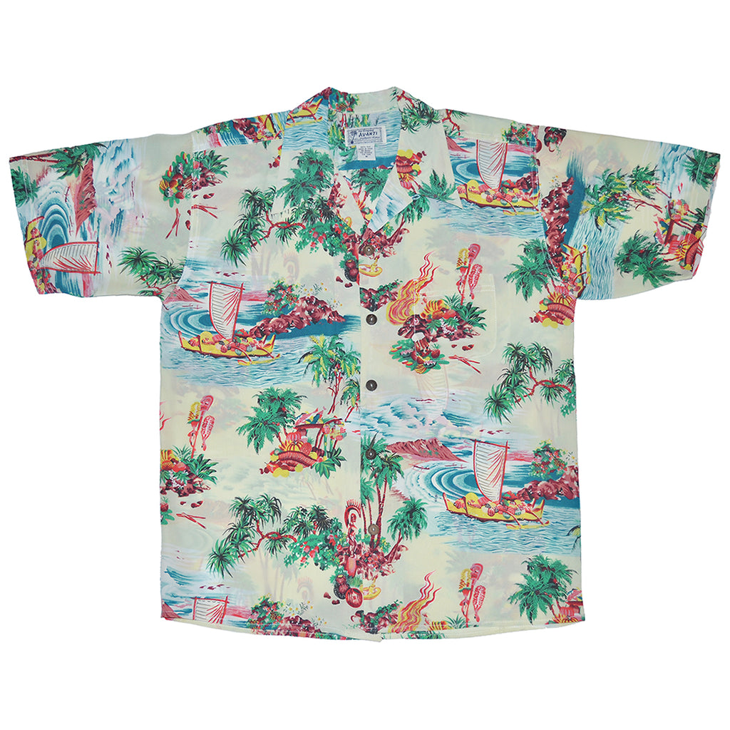 Men's Luau Hawaiian Shirt - Cream