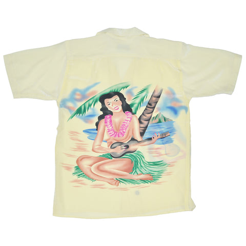 Men's Hula Girl Hawaiian Shirt - Back