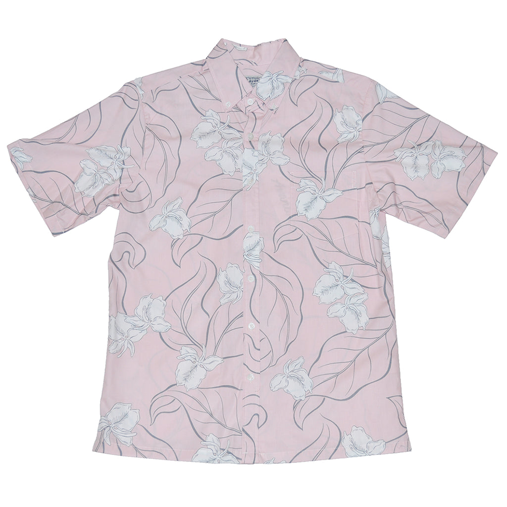 Men's White Ginger Aloha Shirt