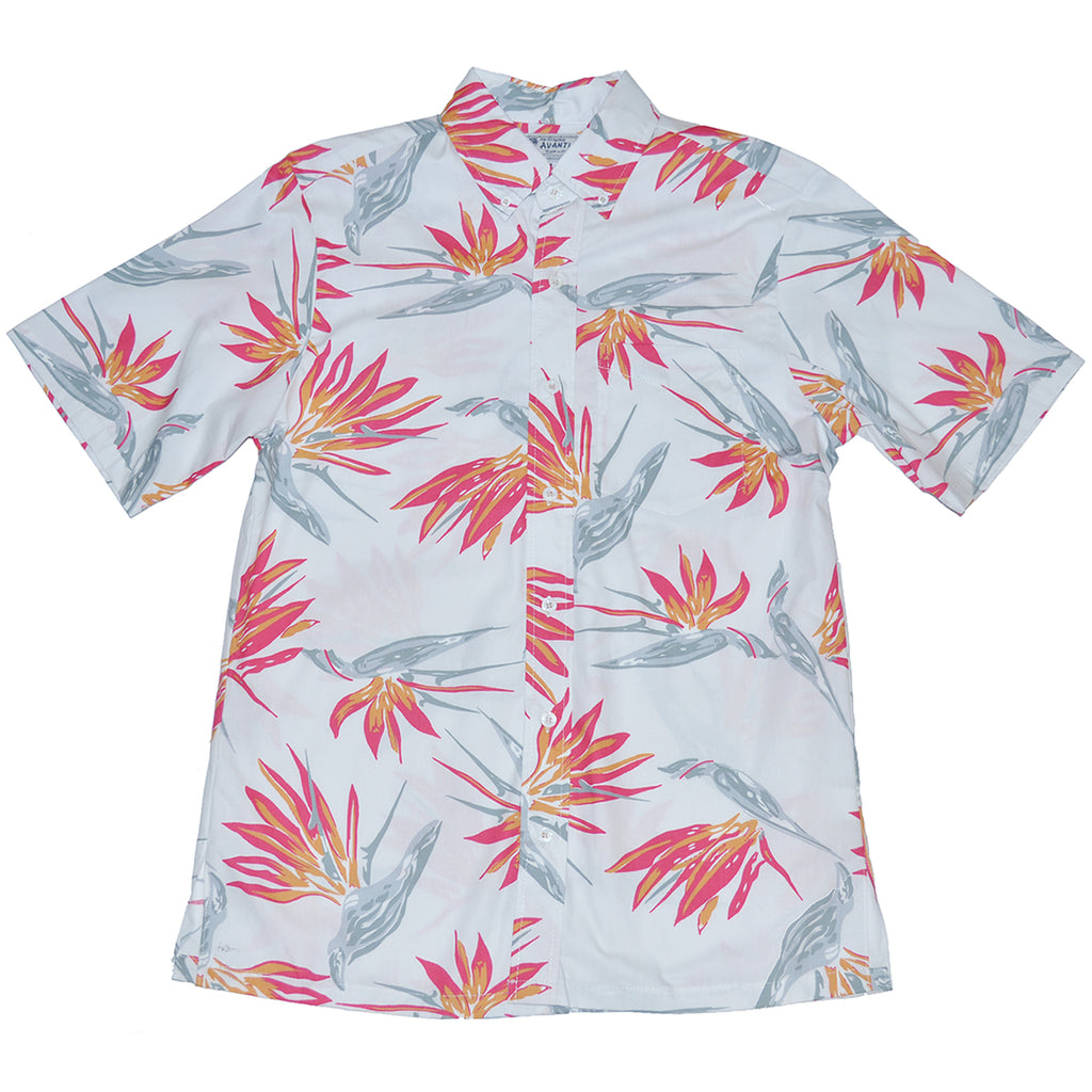Men's Paradise Sketch Aloha Shirt - White