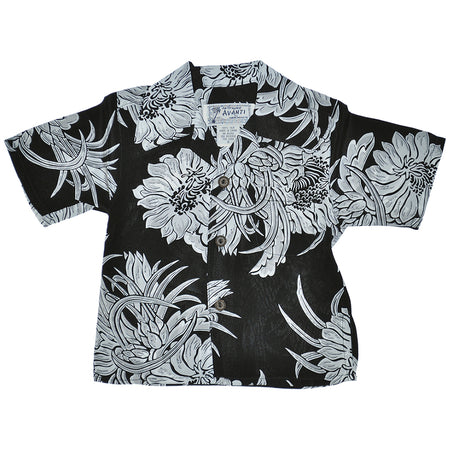 Boy's American Rag x Avanti Night Blooming Cereus Hawaiian Shirt