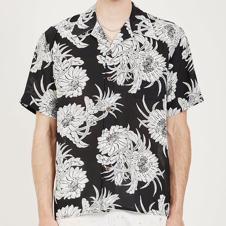 Men's American Rag x Avanti Night Blooming Cereus Hawaiian Shirt