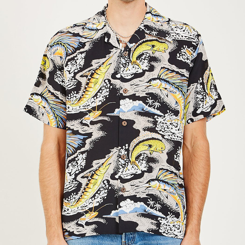 Men's American Rag x Avanti Sailfish Hawaiian Shirt