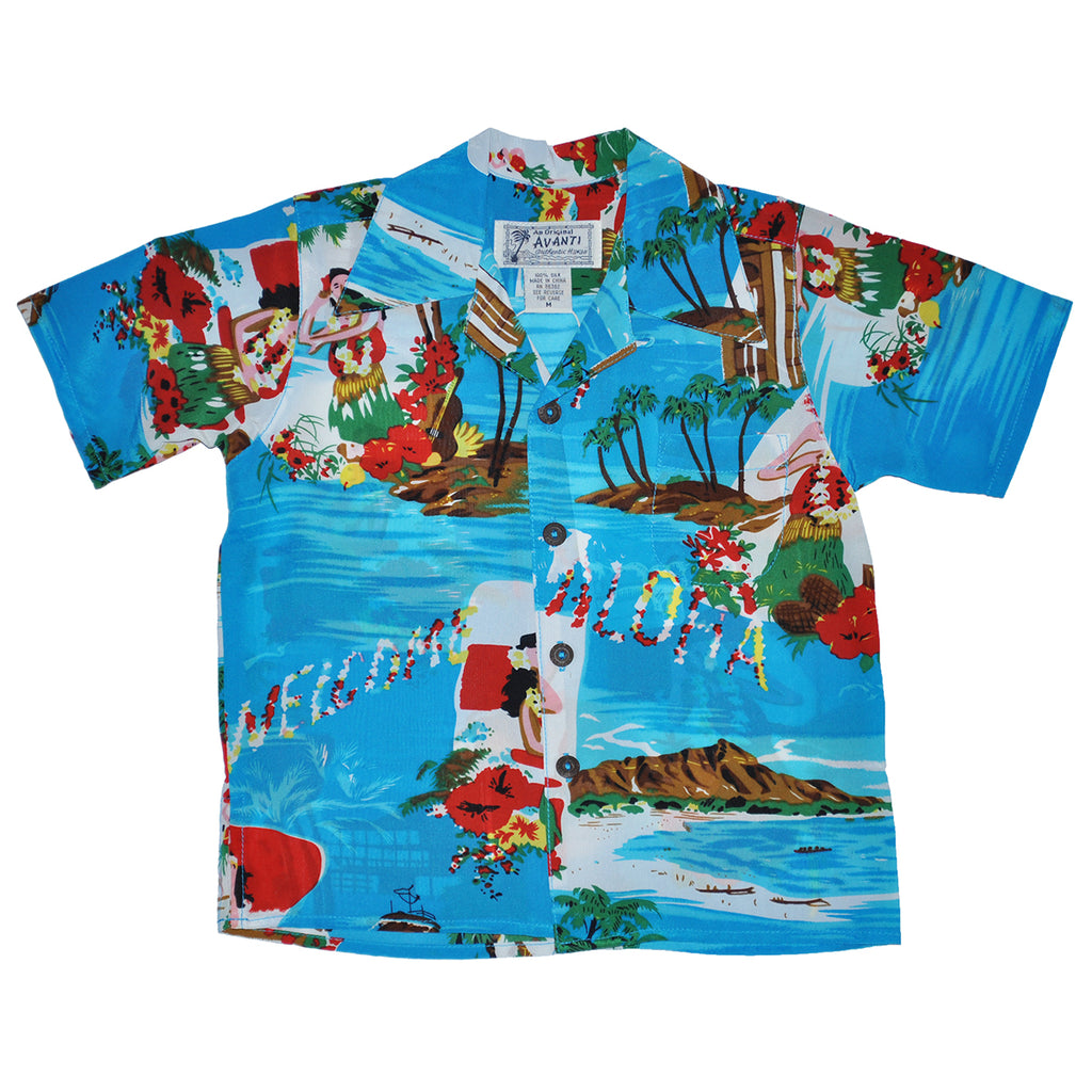 Boy's Aloha Greeting Hawaiian Shirt