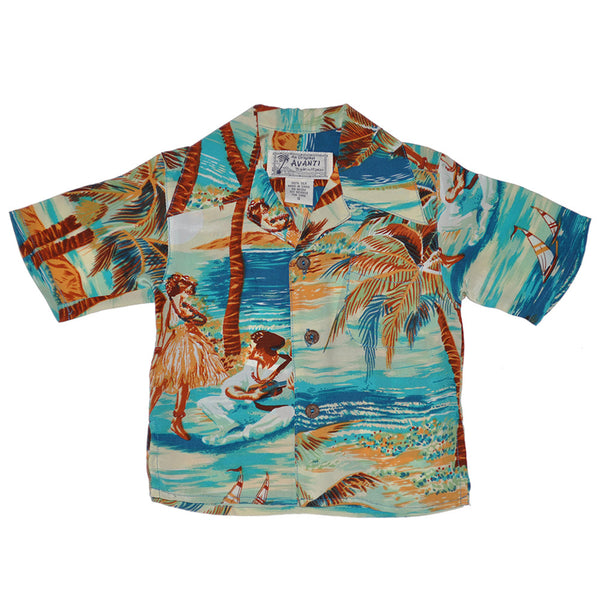 Boy's Hula Hawaiian Shirt