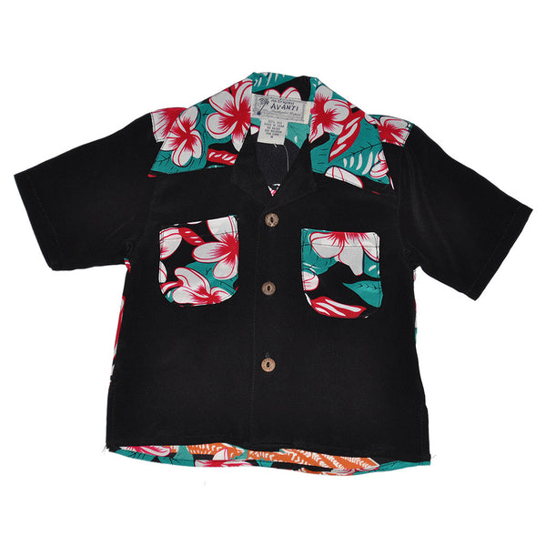 Boy's Hawaiian Maiden Hawaiian Shirt - Front