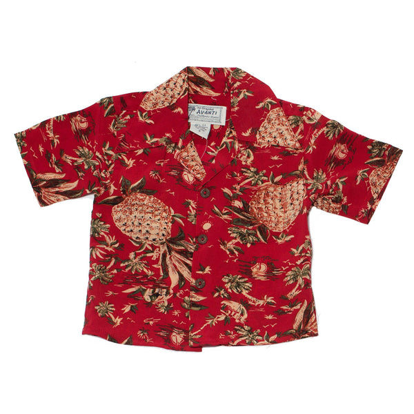 Boy's Pineapple Hut Hawaiian Shirt