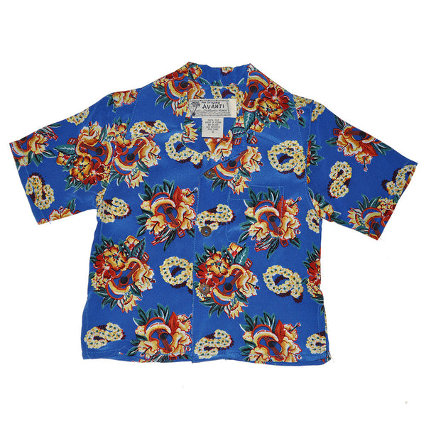 Boy's Ukulele Lei Hawaiian Shirt