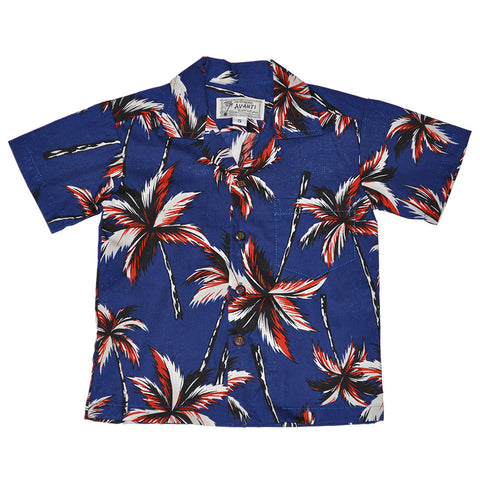 Boy's Electric Palms Aloha Shirt