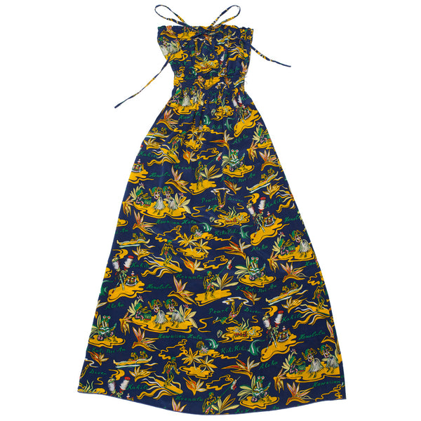 Women's Hawaiian Lifestyle Long Halter Dress