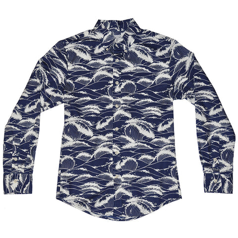 Men's Ehukai Long Sleeve Aloha Shirt