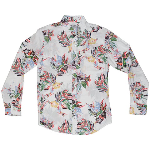 Men's Hula Bloom Long Sleeve Aloha Shirt